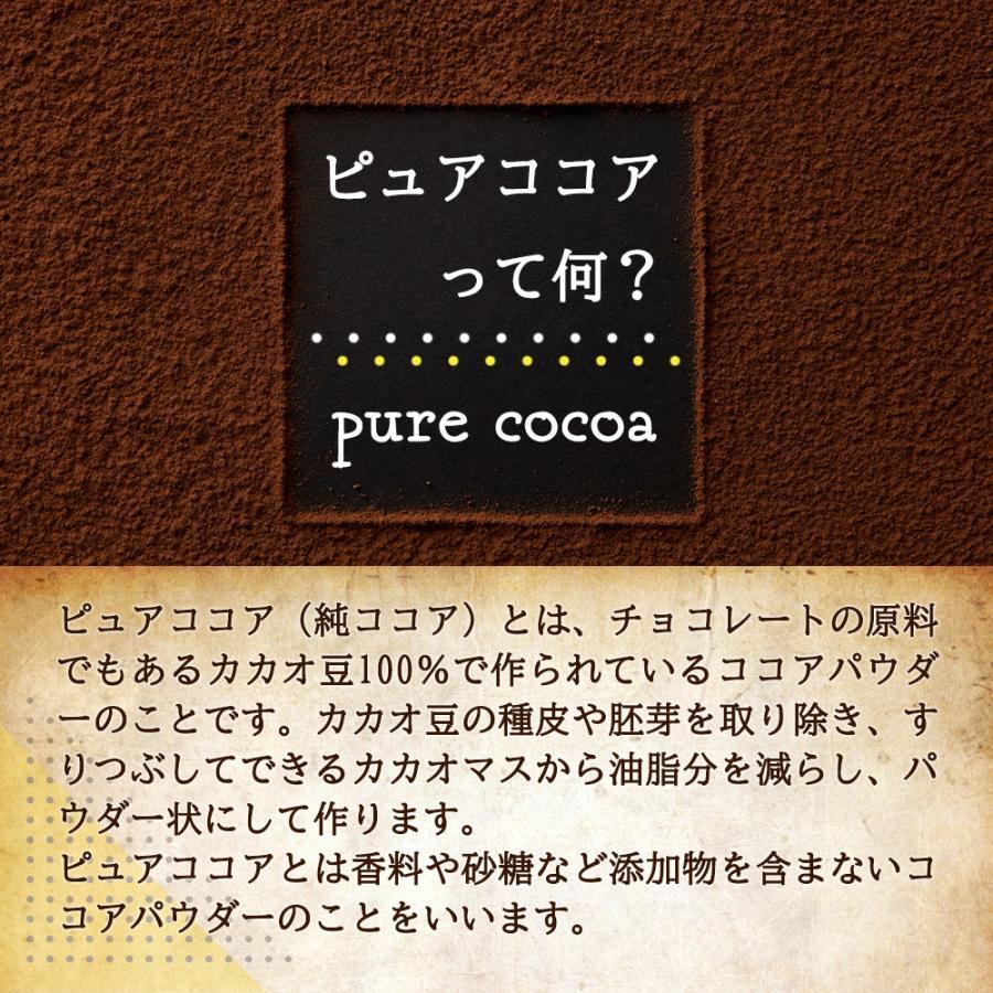 ( ピュアココア 500g ) 純ココア パウダー 製菓 業務用 飲料 カカオ ココア アイスココア 無添加 大容量 お試し 送料無料 ギフト aemotion 05