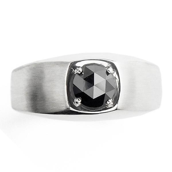 【内祝い】 ブラックダイヤモンド 1.0ct メンズリング 1.0ct Pt ローズカット/ファンシーカット Pt 鑑別書付 鑑別書付, MIXON:856f9903 --- airmodconsu.dominiotemporario.com