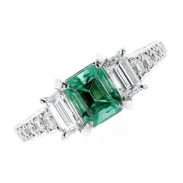 品質満点! エメラルド リング Pt リング 1.06ct 脇石ダイヤモンド 1.137ct(Total) Pt 1.06ct 鑑別書付, ブロッサム:13802ac7 --- levelprosales.com