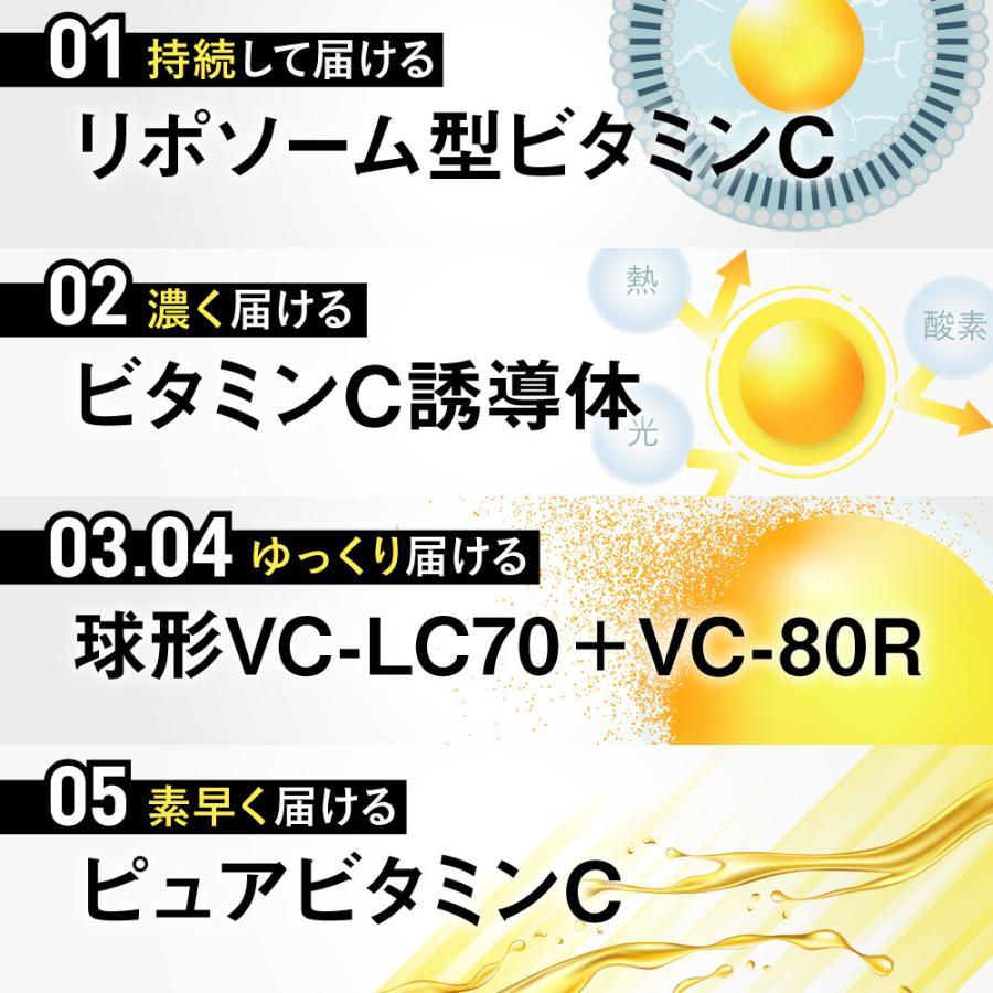 ビタミンC サプリメント ビタクリアC リポソーム型ビタミンC、ビタミンC誘導体、VC-LC70、VC-80R、ピュアビタミン 24時間タイムリリース処方 aequalis 06