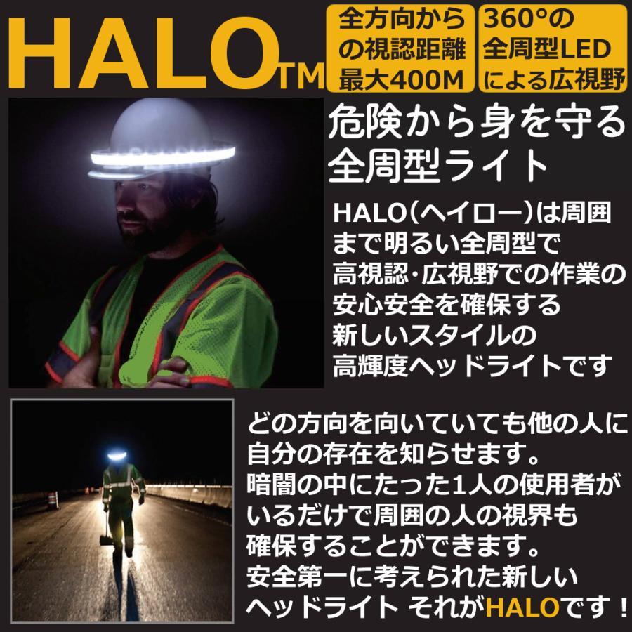 ヘルメット専用 全周型LEDヘッドライト HALO LIGHT TMモデル (本体、バッテリー、充電器セット)※NETIS登録商品|aero-online|02