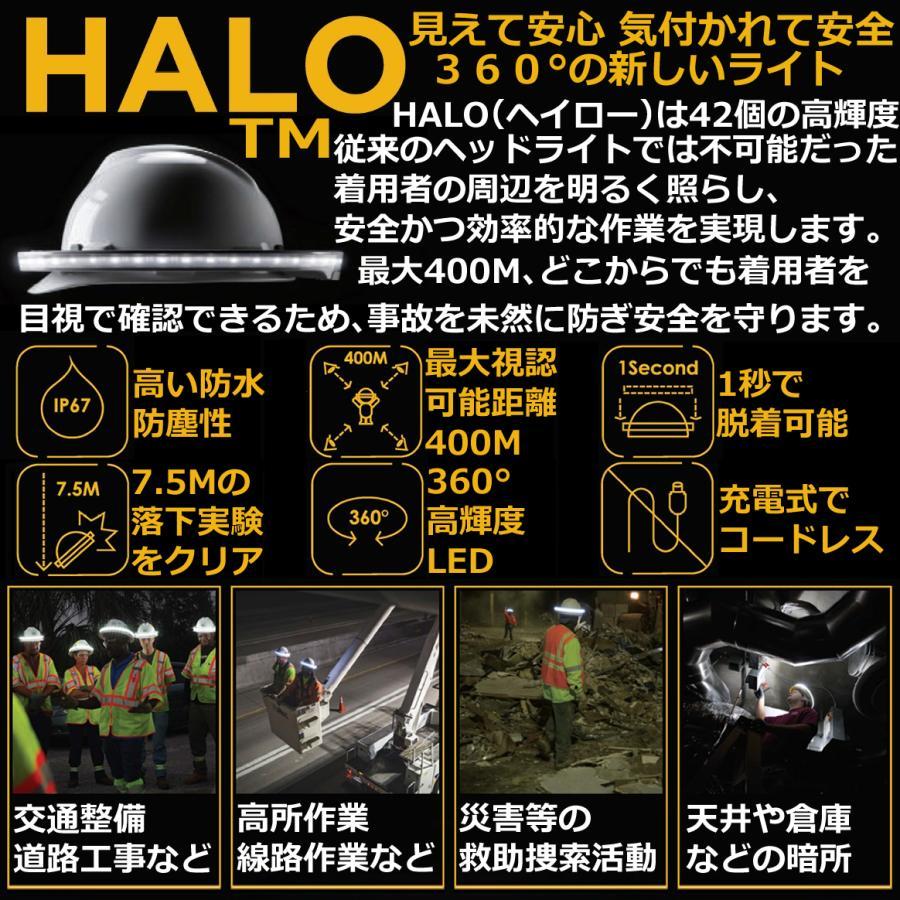 ヘルメット専用 全周型LEDヘッドライト HALO LIGHT TMモデル (本体、バッテリー、充電器セット)※NETIS登録商品|aero-online|03