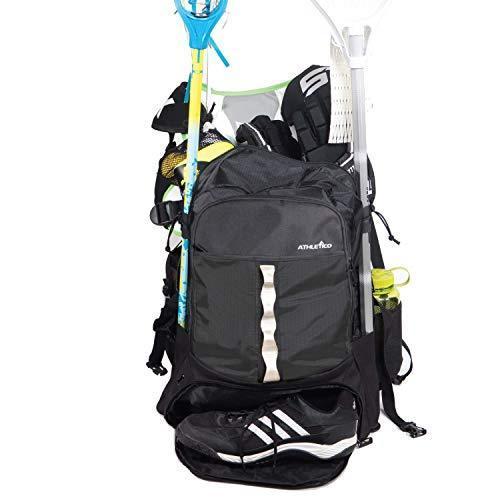 Athletico ラクロスバッグ - XLラクロスバックパック 再入荷/予約販売! ラクロスやフィールドホッケー用品をすべて収納 今ダケ送料無料 スティックホルダー2つと独立し