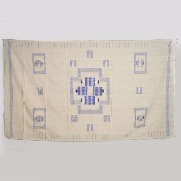◎アフリカ綿刺繍手織り布 ◎アフリカ綿刺繍手織り布 テーブルクロス(ミニランチョンマット12枚付)