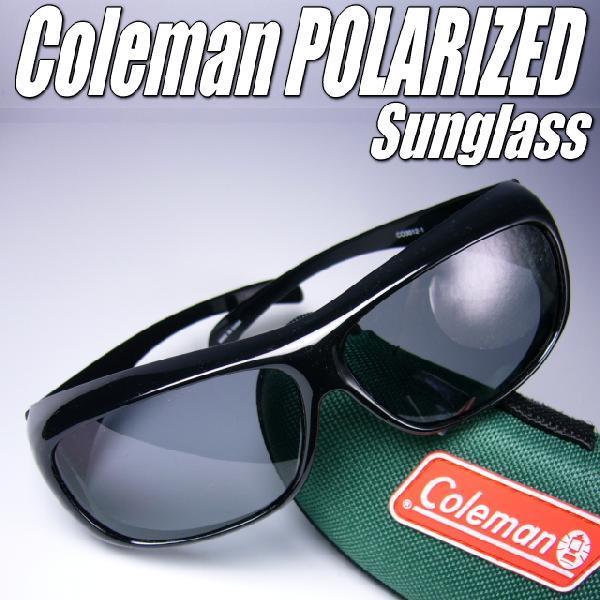 めがねの上から装着 Colemanコールマン偏光サングラス
