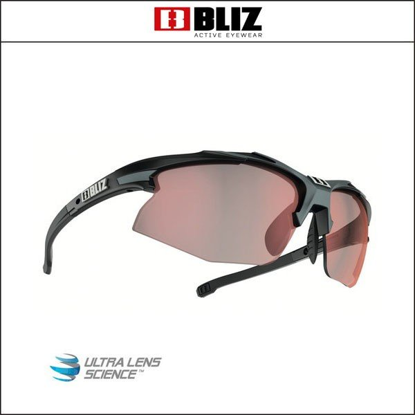 BLIZ ブリス  HYBRID ハイブリッドMatt黒/グレー (褐色赤 Lens)