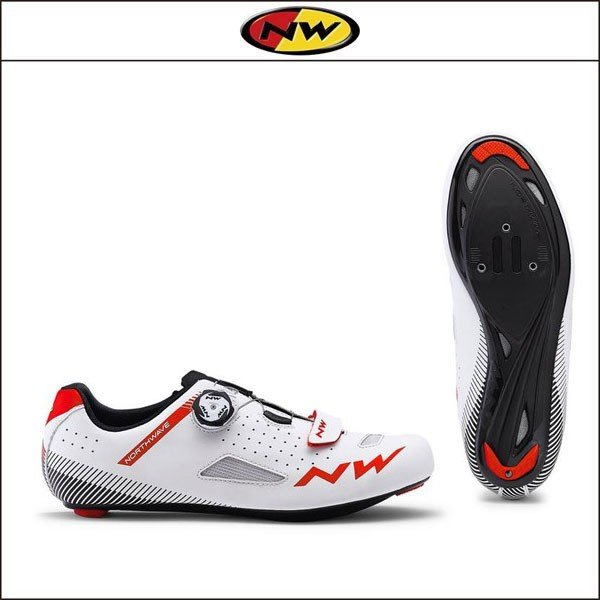 NORTHWAVE/ノースウェーブ CORE PLUS コアプラス WHITE/RED|agbicycle