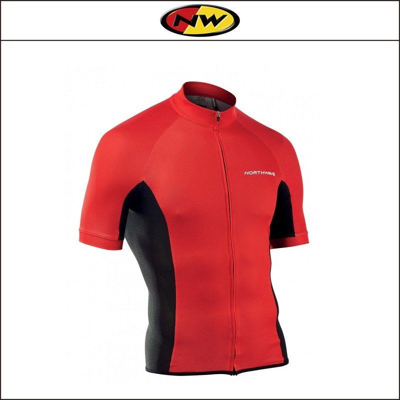 NORTHWAVE/ノースウェーブ  FORCE FULL ZIP JERSEY SHORT SLEEVES  フォース フルジップ ジャージ ショート スリーブ RED|agbicycle