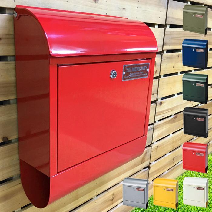 在庫有り 壁掛けポスト おしゃれ 郵便ポスト MERCURY マーキュリー メールボックス MCR BOX ポスト 新生活 新登場 送料無料 MEMABO 郵便受 C062 男女兼用 MAIL
