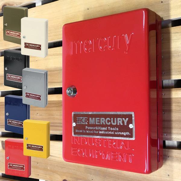 在庫有り マーキュリー キーキャビネット キーケース 送料無料カード決済可能 キーフック おしゃれ 鍵付き 壁掛け モデル着用&注目アイテム MERCURY CABINET 鍵入れ KEY キー MCR 鍵 収納 インダストリアル
