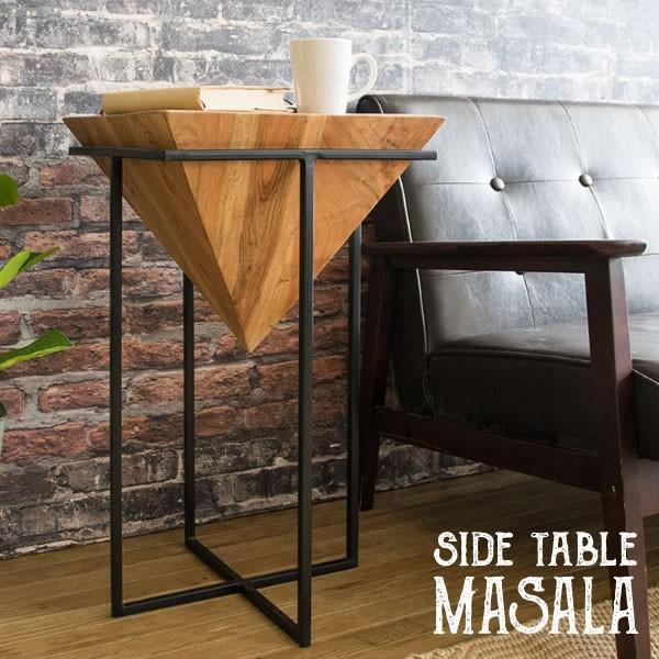 安心と信頼 サイドテーブル おしゃれ アカシア MASALA マサラ サブテーブル 業界No.1 ナイトテーブル 木目 st-l640 ミニテーブル ローテーブル ナチュラル 天然木