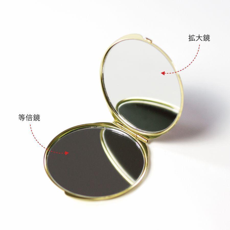 コンパクトミラー 化粧鏡 ダブルミラー 拡大鏡 丸型 くすみ パステル レース 名前入り|agent-n|04