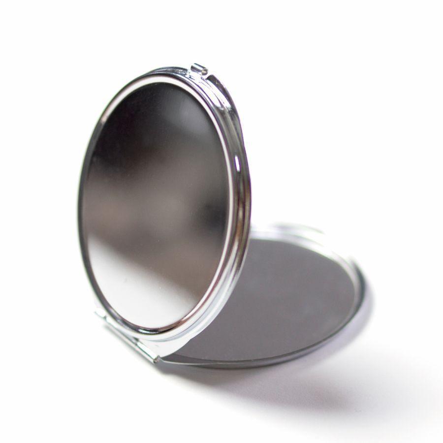 コンパクトミラー 化粧鏡 ダブルミラー 拡大鏡 丸型 くすみ パステル レース 名前入り|agent-n|06