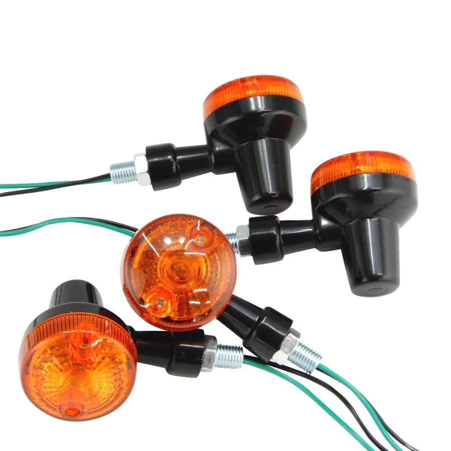 GS ミニ ウインカー 4個 汎用 返品不可 期間限定特別価格 ブラックxオレンジ