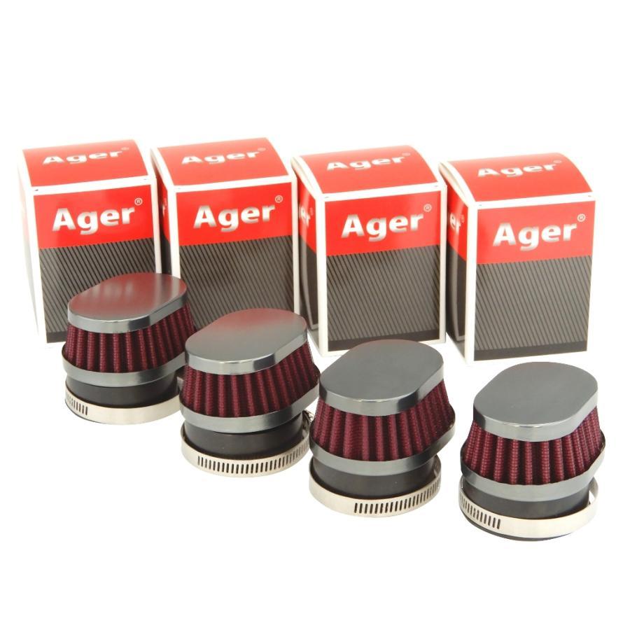 最新 オーバル パワーフィルター 50mm 新作アイテム毎日更新 ショート 4個 ガンメタx赤
