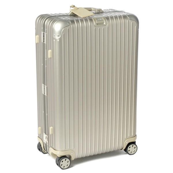 リモワ/RIMOWA キャリーバッグ メンズ TOPAS TITANIUM スーツケース ELECTRONIC TAG 82L シャンパンゴールド 92470035-0002-0014