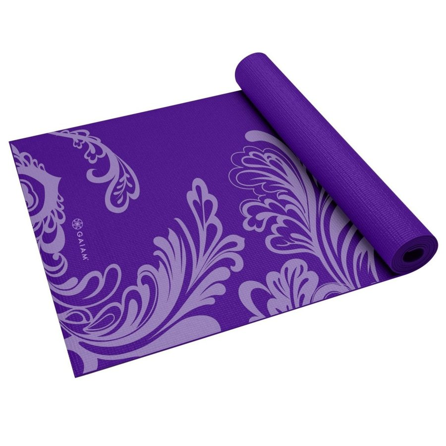 Gaiam ガイアム Watercress Yoga Mat ヨガマット 3mm(紫)並行輸入品