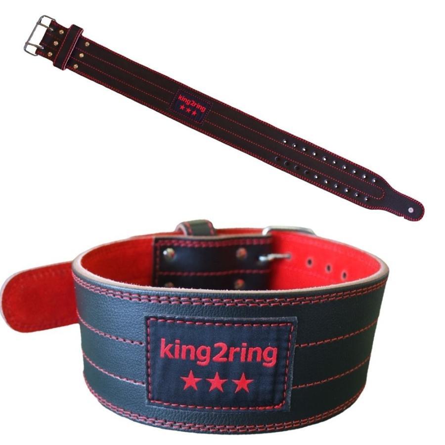 king2ring トレーニングベルト 5mm厚 軽量レザー pk3500 light (L)