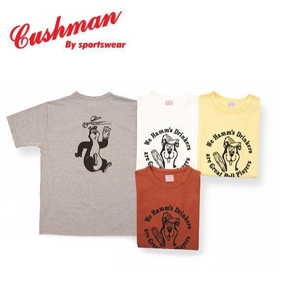 クッシュマン プリントTee  HAMM'S BEAR  CUSHMAN 半袖Tシャツ コットン100% 26643 agogo55