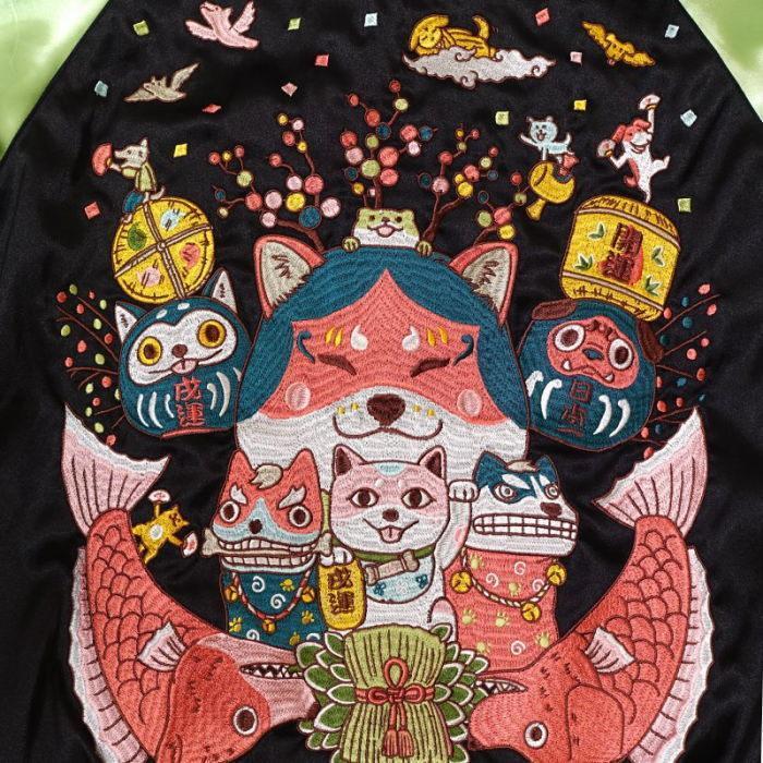 わっしょいワンダフル刺繍スカジャン ごちゃふるワールド × SwitchPlanning Japanesque   ジャパネスク  メンズ レディース  GFSJ-003|agogo55|04