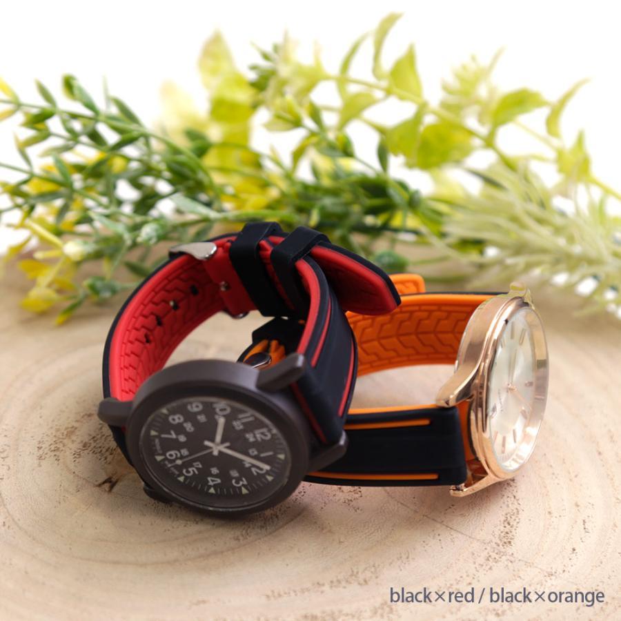 時計ベルト シリコン ベルト 20mm 22mm 24mm 腕時計 ベルト 替えベルト シリコン ラバー 交換 レディース 女性 メンズ 男性 おしゃれ agress 02