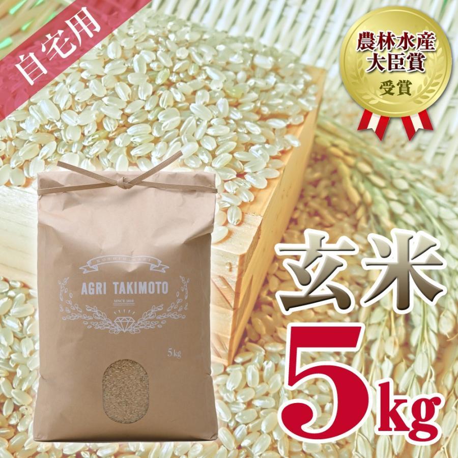 自宅用玄米(5kg×1) コシヒカリ 農林水産大臣賞受賞  / 玄米 お米 ご飯 5kg agri-takimoto