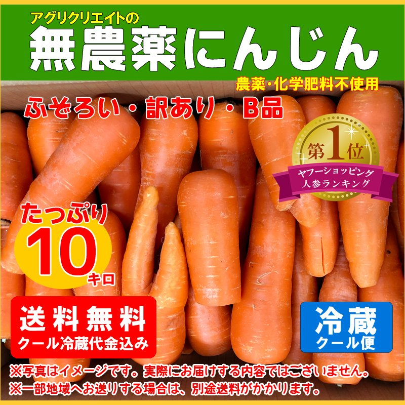 ついに再販開始 送料無料 無農薬ジュース用洗い人参10kg 激安☆超特価