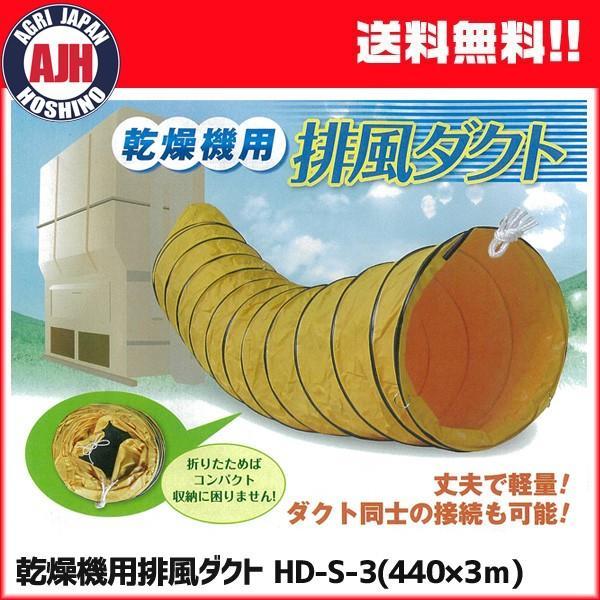 乾燥機用 排風ダクト HD-S-3 (Φ440mm×3m) 【メーカー直送・代引不可】