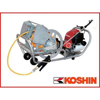 工進 4サイクルエンジンセット動噴 MS-ERH50(サンフーロン1本サービス)(軽量6mmホース50m付き)(噴霧器 噴霧機)