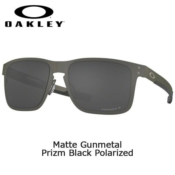 カジュアル サングラス オークリー ホルブルック メタル OAKLEY HOLBROOK METAL Matte Gunmetal Prizm 黒 Polarized あすつく