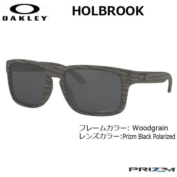 オークリー 偏光 サングラス ホルブルック カジュアル OAKLEY HOLBROOK (A) フレーム Woodgrain レンズ Prizm 黒 Polarized あすつく