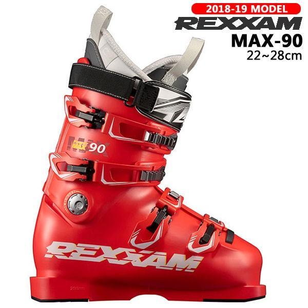 スキー ブーツ 靴 18-19 REXXAM レグザム MAX-90 マックス オールラウンド ミッドフレックス 人気