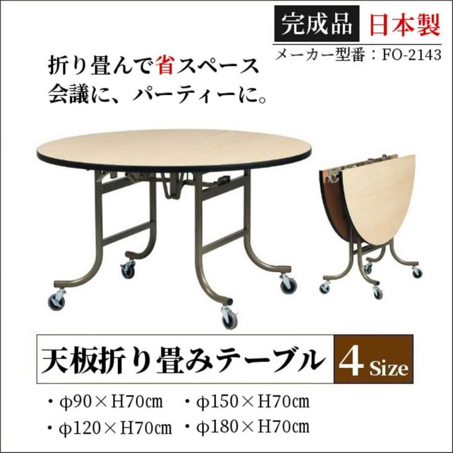 円テーブル 折りたたみ キャスター付き オフィス 会議 打合せ パーティー SI 586 直径180cm