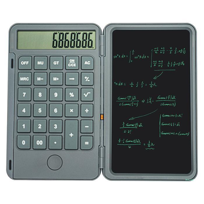 電子メモパッド 電子メモ 電卓 12桁 6インチ おトク 電子メモ帳 ロック機能 ###電卓付きメモ帳-RY### タッチペン付き 手書きメモ デジタルメモ 送料無料でお届けします 持ち運び