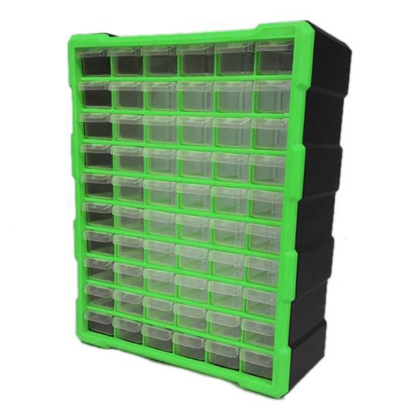 パーツボックス ツールボックス 工具箱 パーツケース 引き出し 小物収納 激安価格と即納で通信販売 キャビネット 60個 新品未使用正規品 ###工具箱PB003緑###