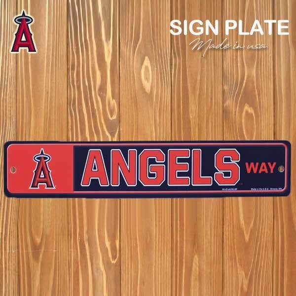 メーカー直売 サインプレート Los Angeles ANGELS quot;DRIVEquot; 10.2cm×61cm 看板 メジャーリーグ エンジェルス 希少 MLB アメリカ直輸入 グッズ ロサンゼルス