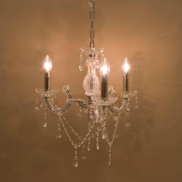 シャンデリア クリスタルガラスシャンデリア Trinity クリア 3灯 シーリング加工済み CLEAR  ak-p7356-3cl