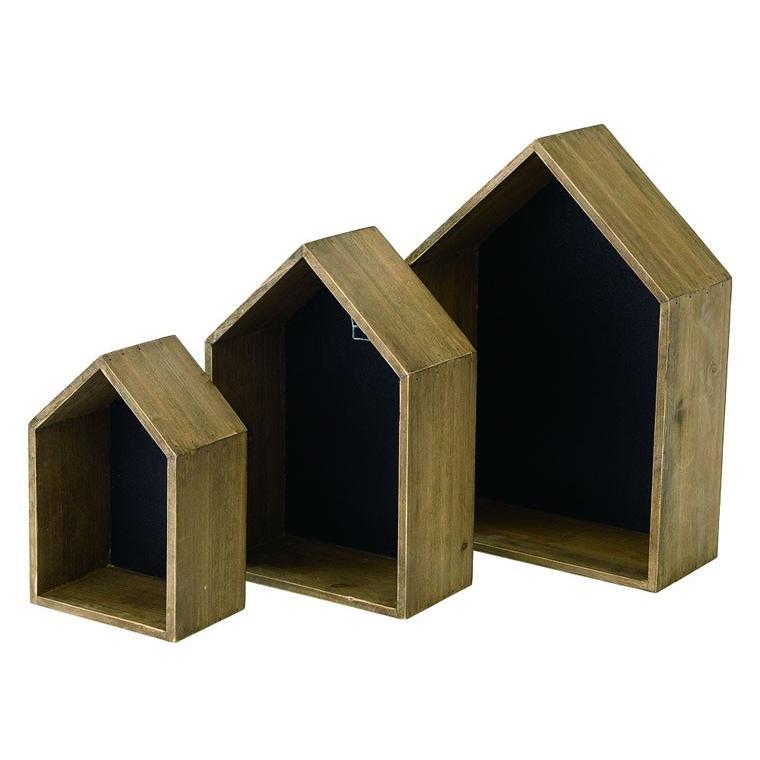 ディスプレイと収納を兼ねる!ブラックボード付きハウス型orスクエア型のボックスセット