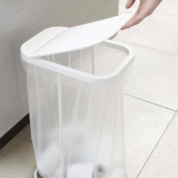 分別 ゴミ箱 ごみ箱 ダストボックス キッチン スリム ふた付き ゴミ袋ホルダー 45l 40l 分別 分別ゴミ袋ホルダー ルーチェ 2個セット|aifa|03
