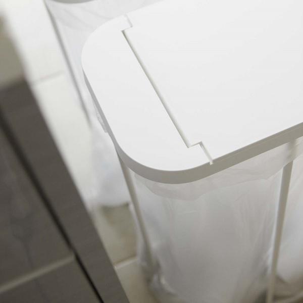 分別 ゴミ箱 ごみ箱 ダストボックス キッチン スリム ふた付き ゴミ袋ホルダー 45l 40l 分別 分別ゴミ袋ホルダー ルーチェ 2個セット|aifa|06
