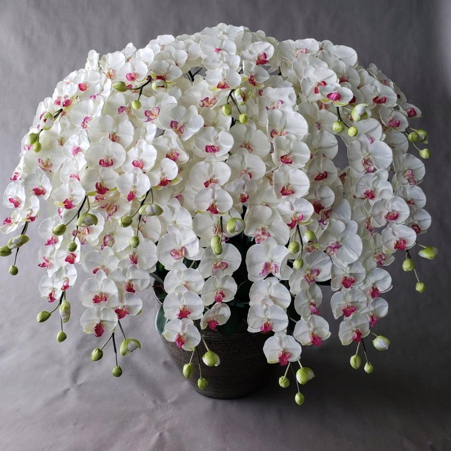 胡蝶蘭LL 16F 白(高120cm巾100cm)光触媒、造花,開花輪、蕾合計272輪。大型サイズでホテルフロント