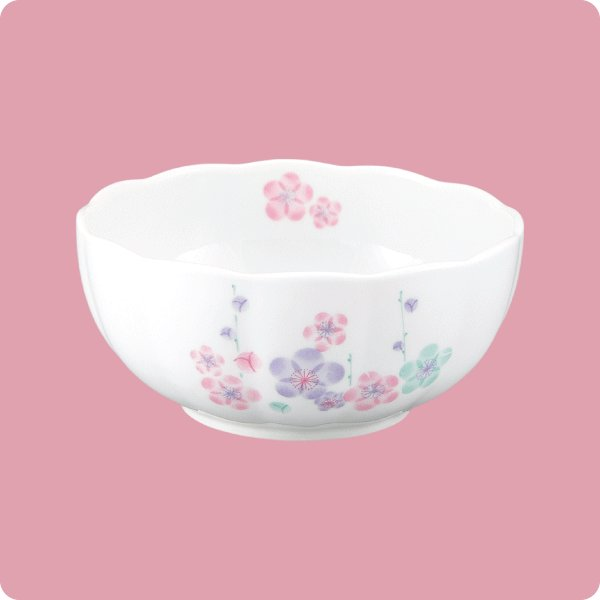ニ・105 11cm手まり鉢(3色梅)|aigineo