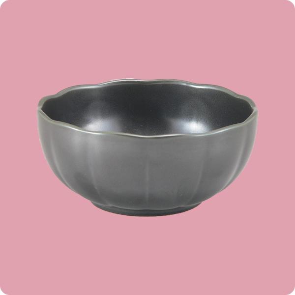 ニBマ・105 11cm手まり鉢(黒マット)|aigineo