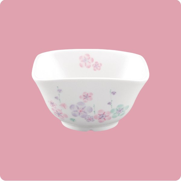 ニ・128 角小鉢 特小(3色梅)|aigineo