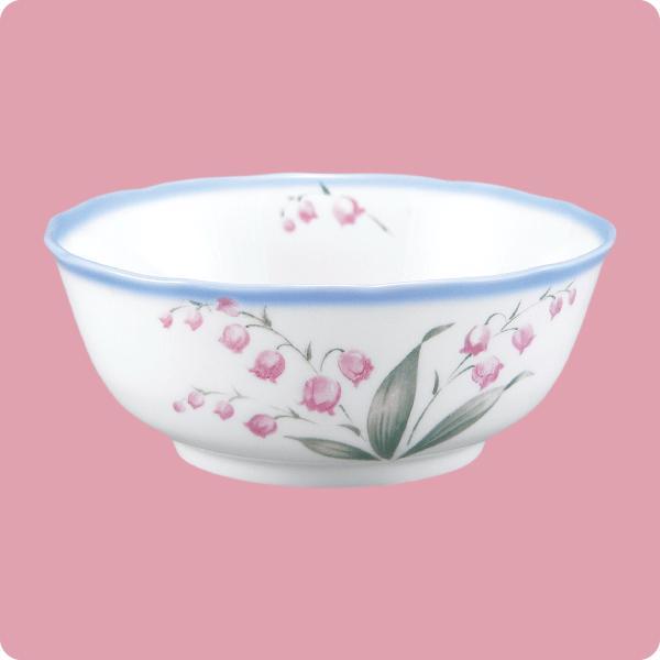 ニ・69 鏡花14cm深鉢(スズラン)|aigineo