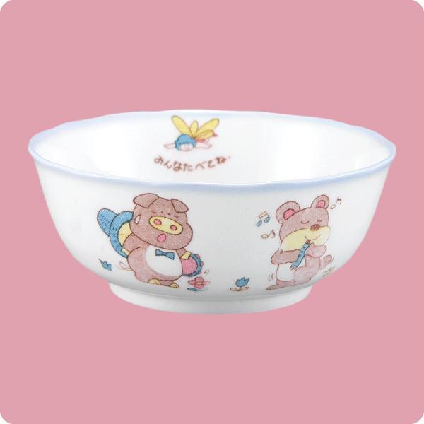 ニ・69 鏡花14cm深鉢(幼児柄)|aigineo