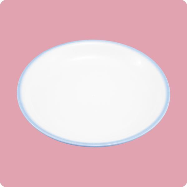 ニ・123 17cm和皿(白無地・ブルー巻) aigineo