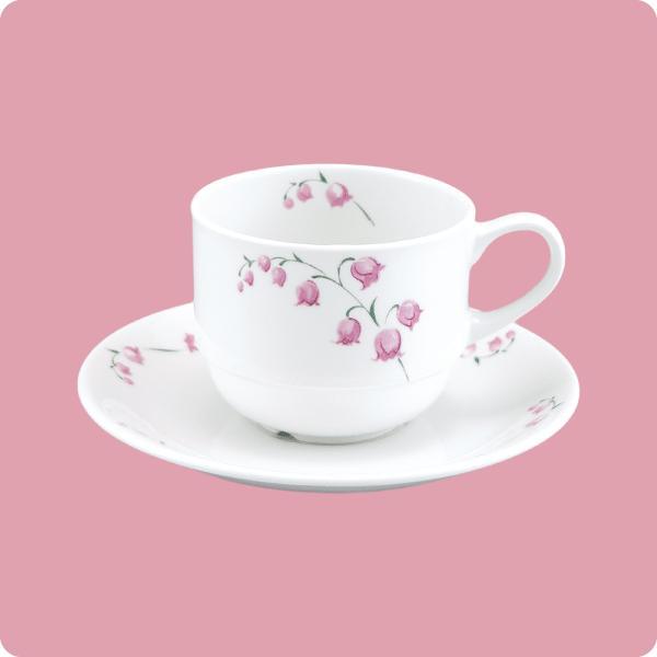 ニ・48 ニ・サ48 コーヒー碗・皿(スズラン)|aigineo