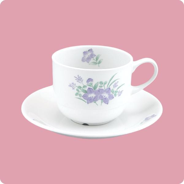 ニ・48 ニ・サ48 コーヒー碗・皿(キキョウ) aigineo