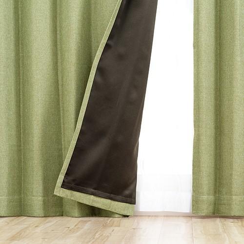 2枚組 既製遮光カーテン/選べる9サイズ 裏地付き遮光形状記憶カーテン「ラフィネ」(2枚入)|aiika|02